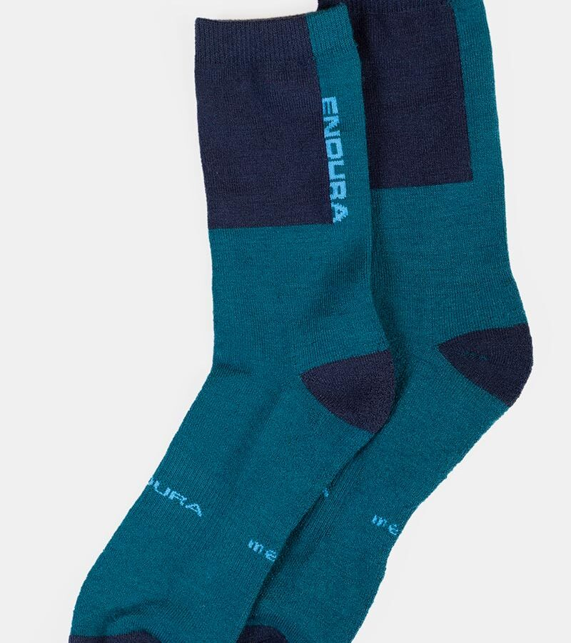 BaaBaa Merino Winter Sock (Single): Kingfisher – L-XL
