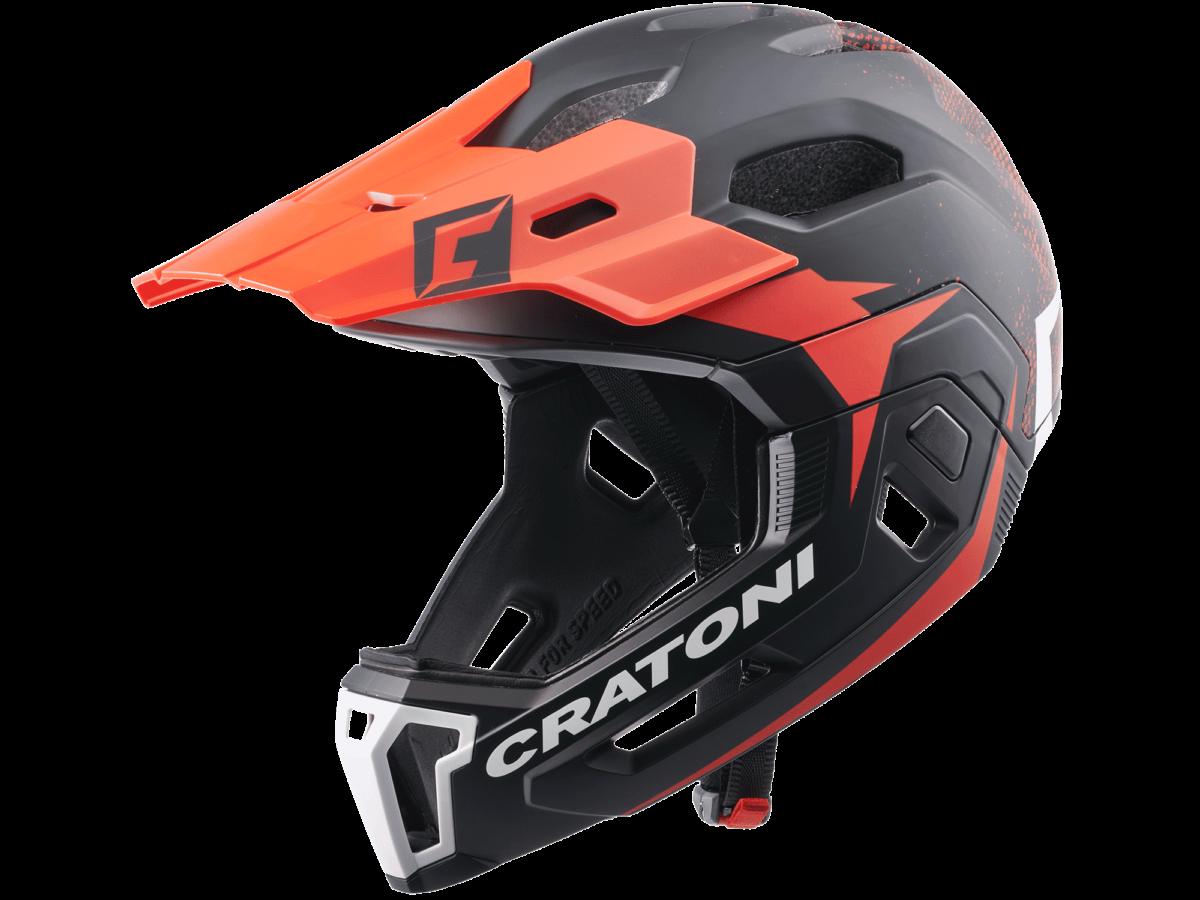CRATONI MTB Helmet C-Maniac 2.0 MX  size S/M (52-56cm) black/red matt