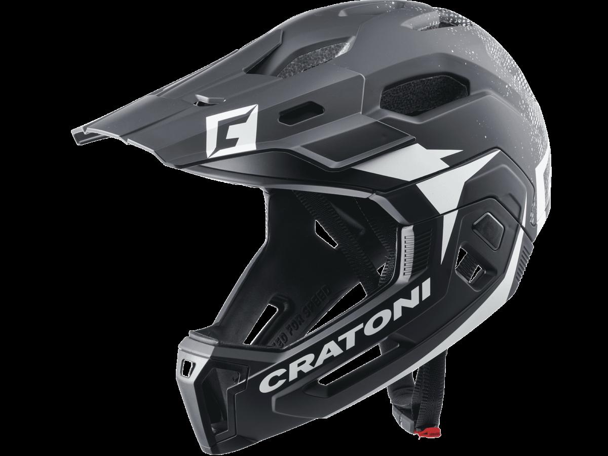 CRATONI MTB Helmet C-Maniac 2.0 MX  size M/L (54-58cm) Black/White Matt